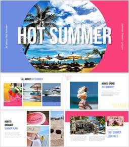 Hot Summer company profile template design_35 slides