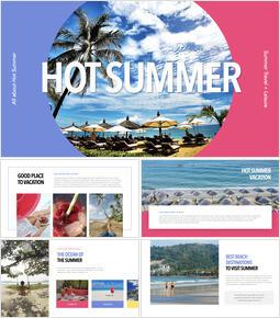 Hot Summer PPT to Keynote_35 slides