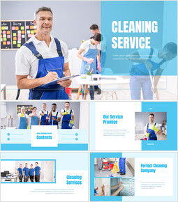 House Cleaning Service PPT Templates Design_50 slides