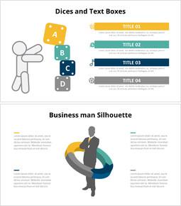 Diagramma infografico sagoma umana_6 slides