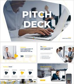 라인 디자인 피치덱 파워포인트 디자인 무료_13 slides
