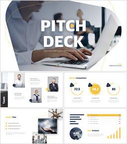 Line Design Pitch Deck Template Keynote Free_13 slides