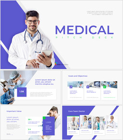 Medical Pitch Deck Animated Slides in PowerPoint_14 slides