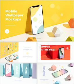 Mobile Wallpaper Mockup Design Google presentation_35 slides