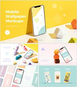 モバイル壁紙モックアップデザイン 提案パワーポイント例_35 slides
