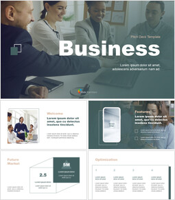 모던 컨셉 비즈니스 피치덱 마케팅용 프레젠테이션 PPT_13 slides