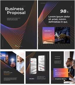 현대 벡터 라인 사업 제안 파워포인트 슬라이드 디자인_26 slides