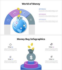 Diagramma infografico denaro_4 slides