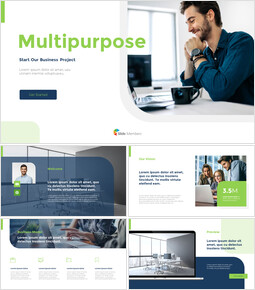 Multipurpose Pitch Deck powerpoint template_12 slides