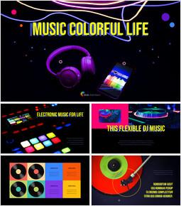 Musica Vita Colorata Facile modello PPT_35 slides