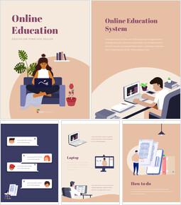 Éducation en ligne téléchargement de présentation powerpoint_25 slides