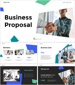 Our Business Proposal company profile template design_14 slides