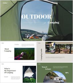 야외 캠핑 PPT 테마 슬라이드_35 slides
