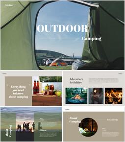 Outdoor Camping presentation slide design_35 slides