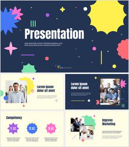パターンクリエイティブピッチデッキプレゼンテーションアニメーションスライド_13 slides