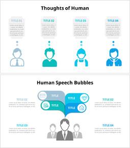 Diagramma infografico di persone e fumetto_6 slides