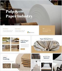 펄프 및 제지 산업 실행 사업계획 PPT_35 slides