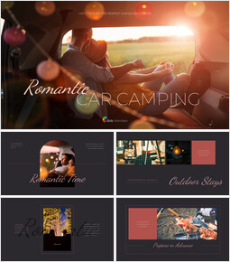 Romantic Car Camping company profile ppt template_50 slides