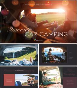Romantic Car Camping PowerPoint Presentation Templates_50 slides