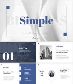 Simple Line Business Interactive PPT_32 slides
