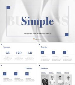 Simple Line Business PPTX to Keynote_32 slides