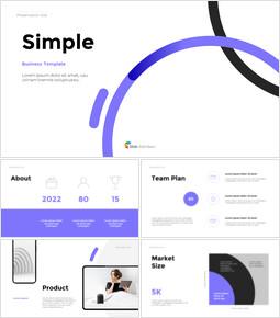 シンプルなラインビジネスプレゼンテーション ピピチ背景_37 slides