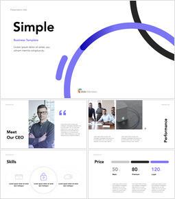 シンプルなラインビジネスプレゼンテーション キーノートのPPT_37 slides