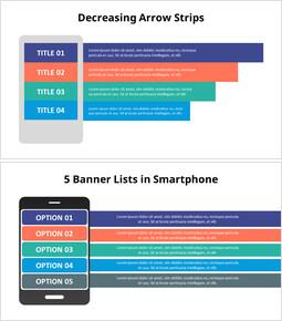 Diagramma infografico per smartphone_6 slides