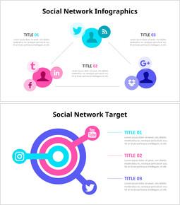 Diagramma infografico dei social network_6 slides
