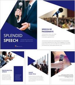 Splendid Speech Simple PowerPoint Template Design_25 slides
