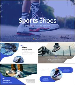 Chaussures de sport Exemples de présentations PowerPoint_35 slides
