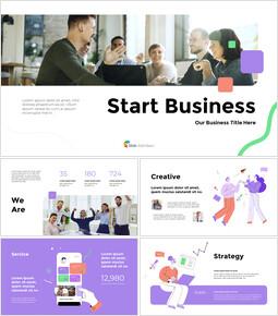 사업 시작 심플한 템플릿 디자인_13 slides