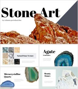 Art de la pierre Conception PowerPoint simple_35 slides