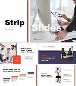 Strip Design Business Pitch Deck Présentations PowerPoint_13 slides