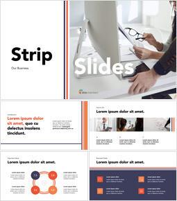 Piattaforma di presentazione aziendale con design a strisce PPT Keynote_13 slides