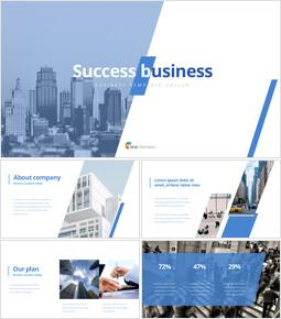 サクセスビジネス テンプレートのデザイン_35 slides