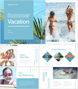 Summer Vacation Business Keynote_35 slides