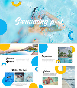 Swimming Pool PowerPoint Templates Design_35 slides