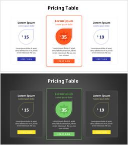 Three Pricing Table_2 slides