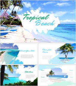 トロピカルビーチ Googleプレゼンテーションテンプレート_35 slides
