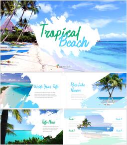 Tropical Beach slide powerpoint_35 slides