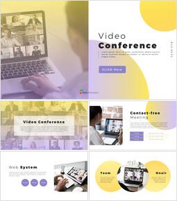 ビデオ会議 パワーポイントのプレゼンテーションのデザイン_40 slides