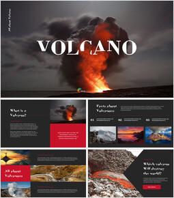 Volcan Conception de plate-forme PowerPoint_35 slides