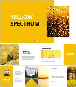옐로우 스펙트럼 PPT 디자인 템플릿_35 slides