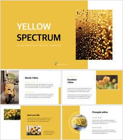 Yellow Spectrum Simple Keynote Template_35 slides