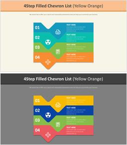 4 단계 쉐브론 목록 다이어그램 (옐로 오렌지)_00