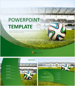 A Soccer Ball and a Stadium - Free PPT Sample_00