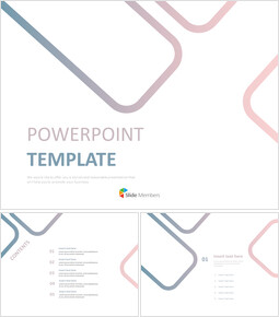 blue and Pink Square - Free Powerpoint Sample_6 slides