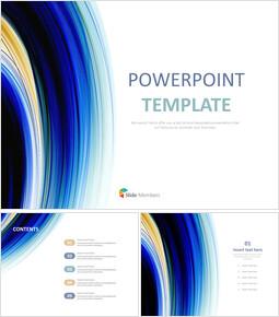 blue Brush-touch Effect - Free Presentation Templates_6 slides