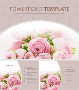Bouquet of Flowers As a Present - Free PPT Sample_00